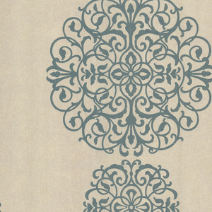 Iman Aqua Medallion Wallpaper 601-58477