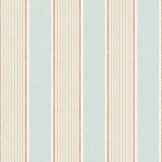 Turf Blue Stripe Wallpaper DLR47275