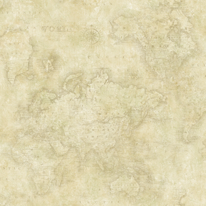 Hardings Beige World Map Wallpaper DLR47543