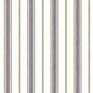 Cabin Blue Stripe Wallpaper DLR491010