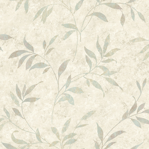 Sanibel Grey Leaf Trail Wallpaper DLR54511