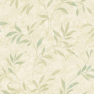 Sanibel Beige Leaf Trail Wallpaper DLR54512