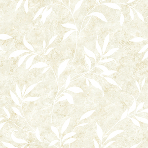 Sanibel Ivory Leaf Trail Wallpaper DLR54513