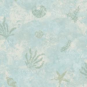 Marina Aqua Scenic Seaside Wallpaper DLR54573