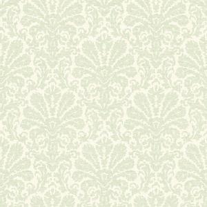 Seascape Green Damask Wallpaper DLR54642