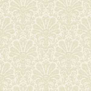 Seascape Beige Damask Wallpaper DLR54645