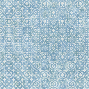 Shell Bay Blue Scallop Damask Wallpaper DLR54651