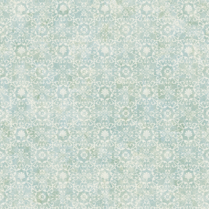 Shell Bay Teal Scallop Damask Wallpaper DLR54652