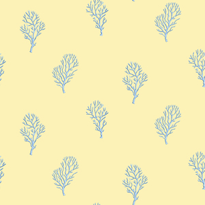 Islamorada Yellow Coral Branch Wallpaper DLR54663
