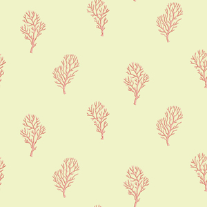 Islamorada Green Coral Branch Wallpaper DLR54664