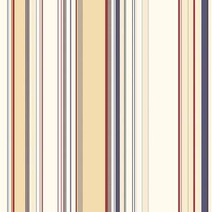 Lookout Navy Stripe Wallpaper DLR58516