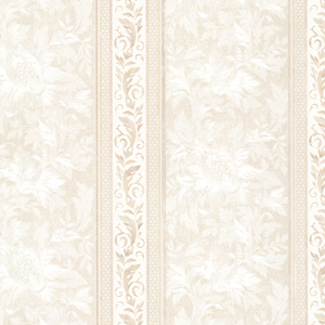 Katherine Beige Ornate Stripe Wallpaper 2530-20505