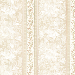Katherine Sepia Ornate Stripe Wallpaper 2530-20506