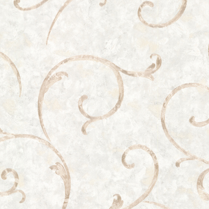 Emilie Blue Scroll Wallpaper 2530-20518