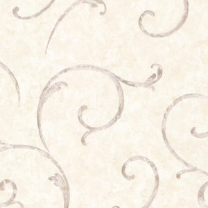Emilie Grey Scroll Wallpaper 2530-20519