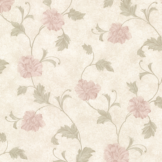 Louise Pink Vintage Floral Trail Wallpaper 2530-20521