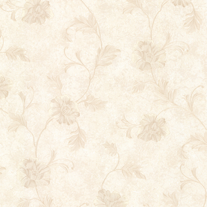 Louise Beige Vintage Floral Trail Wallpaper 2530-20522