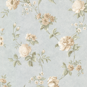 Laetetia Blue Floral Trail Wallpaper 2530-20528