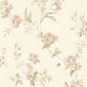 Laetetia Peach Floral Trail Wallpaper 2530-20532