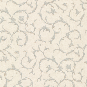 Clover Blue Acanthus Scroll Wallpaper 2530-20538