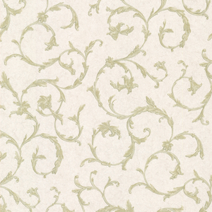 Clover Green Acanthus Scroll Wallpaper 2530-20541