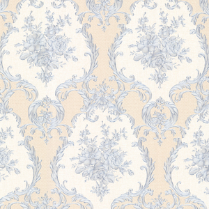 Viola Blue Damask Wallpaper 2530-20545