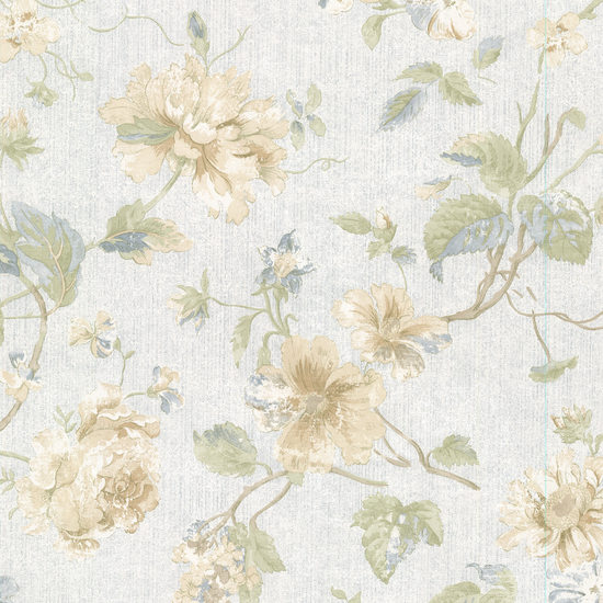 Marnie Blue Peony Trail Wallpaper 2530-20553