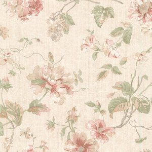 Marnie Peach Peony Trail Wallpaper 2530-20554