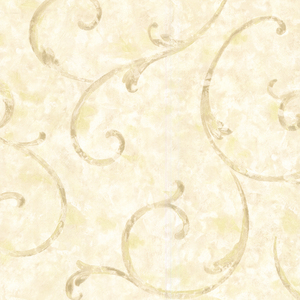 Emilie Cream Scroll Wallpaper 2530-60123