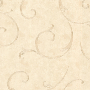 Emilie Beige Scroll Wallpaper 2530-60125