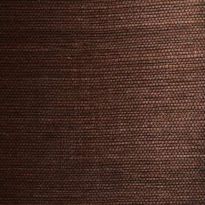 Xiu Dark Brown Grasscloth Wallpaper 63-54721