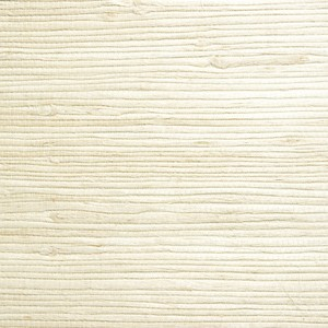 Shuang Cream Grasscloth Wallpaper 63-54725