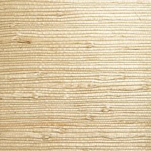 Bing Qing Beige Grasscloth Wallpaper 63-54726