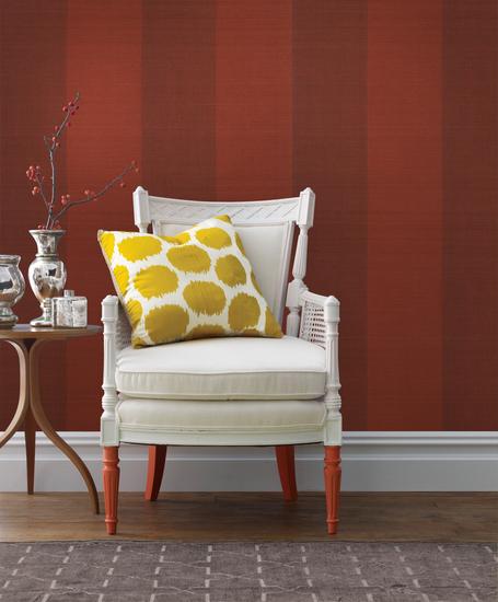 Yi Min Red Grasscloth Wallpaper 63-54734