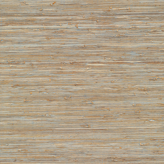 Isami Light Blue Grasscloth Wallpaper 63-65437
