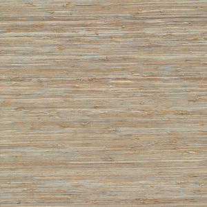 Isami Light Blue Grasscloth Wallpaper 63-65437