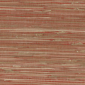 Yan Yan Red Grasscloth Wallpaper 63-65661