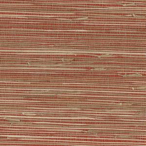 Yan Yan Red Grasscloth Wallpaper 63-65661