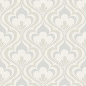Lola Grey Ogee Bargello Wallpaper 2535-20600