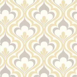 Lola Yellow Ogee Bargello Wallpaper 2535-20601