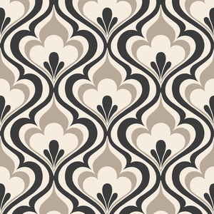 Lola Black Ogee Bargello Wallpaper 2535-20602