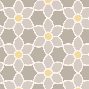 Blossom Grey Geometric Floral Wallpaper 2535-20605