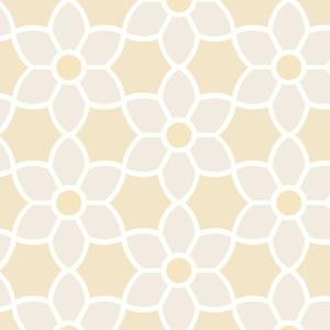 Blossom Beige Geometric Floral Wallpaper 2535-20608