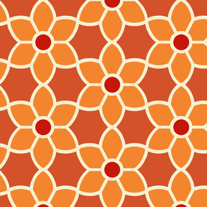 Blossom Red Geometric Floral Wallpaper 2535-20609