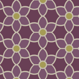 Blossom Purple Geometric Floral Wallpaper 2535-20610