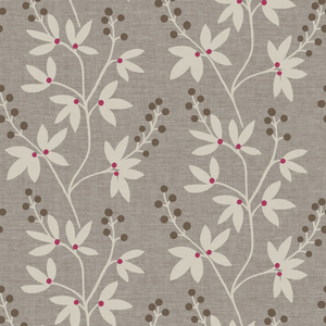 Currant Grey Botanical Trail Wallpaper 2535-20611