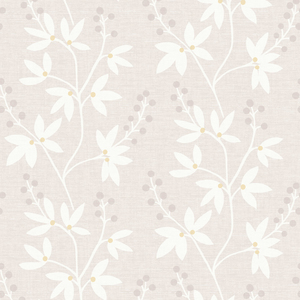 Currant Beige Botanical Trail Wallpaper 2535-20612