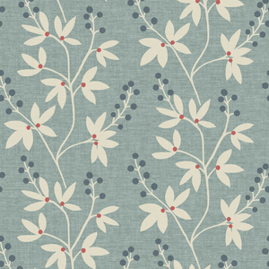 Currant Blue Botanical Trail Wallpaper 2535-20614