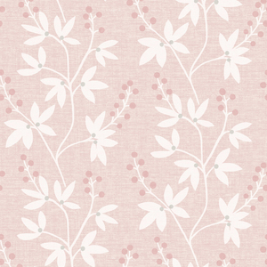 Currant Pink Botanical Trail Wallpaper 2535-20615