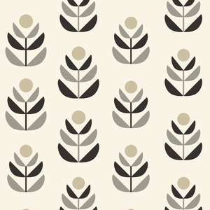 Oslo Black Geometric Tulip Wallpaper 2535-20616